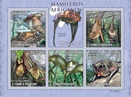 S. TOME & PRINCIPE 2010 - Animals Of Africa - Bats 5v - YT 3456-3460, Mi 4474-4478 - São Tomé Und Príncipe