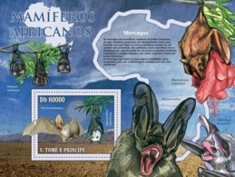 S. TOME & PRINCIPE 2010 - Animals Of Africa - Bats S/s - YT 539, Mi 4483/BL.771 - Sao Tome Et Principe