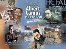 S. TOME & PRINCIPE 2010 - Famous Writer Albert Camus (1913-1960) 5v - YT 3476-3480, Mi 4436-4440 - Sao Tomé Y Príncipe