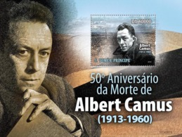 S. TOME & PRINCIPE 2010 - Famous Writer Albert Camus (1913-1960) S/s - YT 543, Mi 4441/BL.764 - Sao Tome And Principe