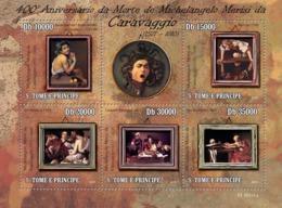 S. TOME & PRINCIPE 2010 - 400th Anniversary Of Painter Michelangelo Merisi Caravaggio 5v - YT 3506-3510, Mi 4388-4392 - Sao Tome Et Principe