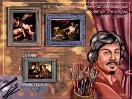 S. TOME & PRINCIPE 2010 - 400th Anniversary Of Painter Michelangelo Merisi Caravaggio S/s - YT 549, Mi 4393/BL.756 - Sao Tome Et Principe