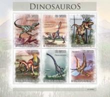 S. TOME & PRINCIPE 2010 - Dinosaurs 6v - YT 3554-3559, Mi 4543-4548 - Sao Tome And Principe