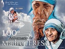 S. TOME & PRINCIPE 2010 - 100th Anniversary Of Mother Teresa S/s - YT 561, Mi 4556/BL.781 - São Tomé Und Príncipe