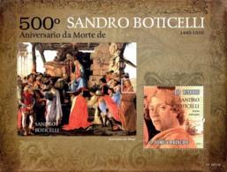 S. TOME & PRINCIPE 2010 - 500th Anniversary Of Death Of Sandro Boticelli S/s - YT 563, Mi 4577/BL.784 - Sao Tome Et Principe