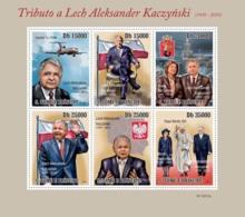 S. TOME & PRINCIPE 2010 - Tribute To Lech Kaczynski (1949-2010) 6v - YT 3602-3607, Mi 4564-4569 - Sao Tomé Y Príncipe