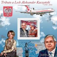 S. TOME & PRINCIPE 2010 - Tribute To Lech Kaczynski (1949-2010) S/s - YT 565, Mi 4570/BL.783 - Sao Tomé Y Príncipe