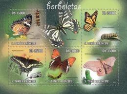 S. TOME & PRINCIPE 2010 - Butterflies 5v - YT 3608-3612, Mi 4598-4602 - Sao Tome And Principe