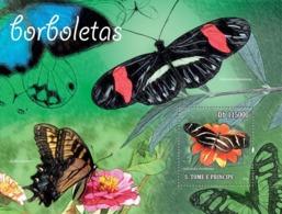 S. TOME & PRINCIPE 2010 - Butterflies S/s - YT 566, Mi 4603/BL.786 - Sao Tome And Principe