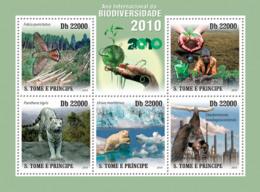 S. TOME & PRINCIPE 2010 - International Year Of Biodiversity 2010 5v - YT 3642-3646, Mi 4686-4690 - Sao Tomé Y Príncipe