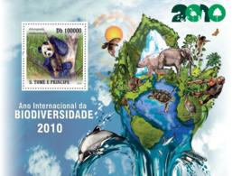 S. TOME & PRINCIPE 2010 - International Year Of Biodiversity 2010 S/s - YT 573, Mi 4691/BL.801 - Sao Tomé Y Príncipe