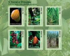 S. TOME & PRINCIPE 2010 - Cycle Of Cocoa, Coffe And Sugar Cane 6v - YT 3742-3747, Mi 4734-4739 - Sao Tome And Principe