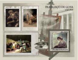 S. TOME & PRINCIPE 2007 - Paintings De Goya S/s - São Tomé Und Príncipe
