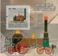 S. TOME & PRINCIPE 2007 - Steam Trains S/s - Sao Tome Et Principe