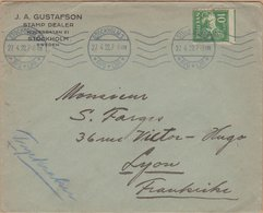 ENVELOPPE TIMBRE 1922 STOCKHOLM 1 (AVG-LBR) VOIR PHOTO - 1920-1936 Coil Stamps I
