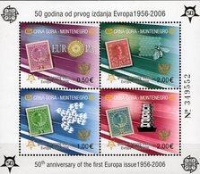 Nummeriert 50 Years CEPT 2006 Montenegro Block 2 Gez.** 20€ Hoja M/s Map Bloc History Ss Philatelic Sheet Bf EUROPA - 2006