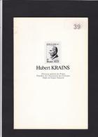 HUBERT KRAINS Directeur General Des Postes  Biographie 40 Pages - Bibliographies