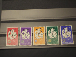 SURINAME - 1966 EMBLEMA 5 VALORI - NUOVI(++) - Suriname