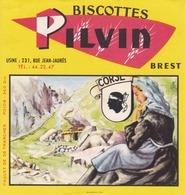BUVARD BISCOTTES PILVIN BREST FINISTERE / COLLECTIONS REGIONS DE FRANCE / LA CORSE  / TRÈS RARE - Biscottes