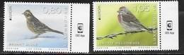 LUXEMBOURG, 2019, MNH, EUROPA 2019,  BIRDS, 2v - 2019
