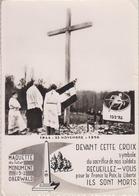CPSM Oberwald - Maquette Du Futur Monument 152e R. I. - Ruines De La Centrale Electrique (au Verso Cachet Souscription) - France