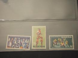 NIGERIA - 1967 MASCHERE 3 VALORI  - NUOVI(++) - Nigeria (1961-...)