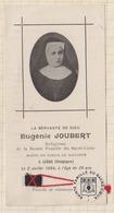 9AL1846 EUGENIE JOUBERT 1904 LIEGE RELIGIEUSE SACRE COEUR RELIQUE 2 SCANS - Devotion Images