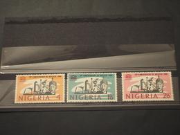 NIGERIA - 1966 UNESCO 3 VALORI  - NUOVI(++) - Nigeria (1961-...)