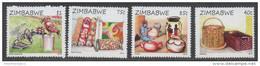 ZIMBABWE ,2015,MNH, HANDICRAFTS, BASKETS, VASES, FABRICS, SCULPTURES, BIRDS, TURTLES,  4v - Art