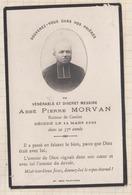 9AL1848 IMAGE RELIGIEUSE MORTUAIRE ABBE PIERRE MORVAN CAMLEZ 1921 2 SCANS - Devotion Images