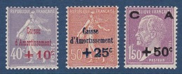 N°__249 A 251 TIMBRES CAISSE D'AMORTISSEMENT, TIMBRES NEUFS ** 1928 - Nuovi