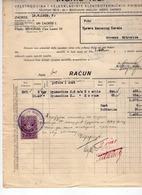 1929 YUGOSLAVIA, CROATIA, ZAGREB, NORIS, ELECTRICAL WHOLESALER, INVOICE ON LETTERHEAD, 1 FISKAL STAMP - Invoices & Commercial Documents