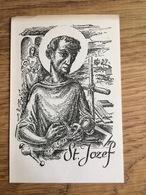 St. Jozef, Gebed Tot Heiliging Van De Arbeid, Evulgetur: C. J. Henning Pr., Heemstede - Devotieprenten