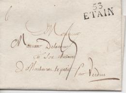 France, Lettre De 1824, Marque De ETAIN 53 (Meuse) - Poststempel (Briefe)