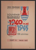 Luxembourg 1945 Souvenir Card, Cercle Philatelique  (Ref: 1909) - Luxembourg