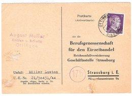 AL57-054 - Carte De Ottange Pour Strasbourg - WW2 Annexion - Marcophilie (Lettres)
