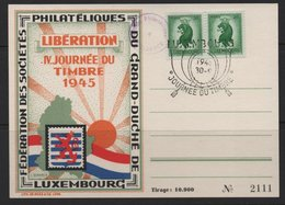 Luxembourg 1945 Souvenir Card, 30/09/1945  (Ref: 1912) - Luxembourg