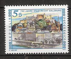 Austria 1987 700 Years City Rights For Salzburg MI 1879 MNH(**) - 1945-.... 2nd Republic