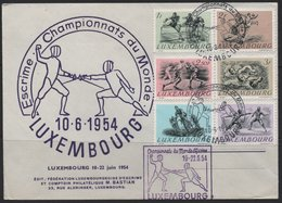 Luxembourg 1954 Cover, 1952 Olympic Set  (Ref: 1913) - Luxembourg