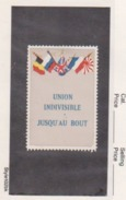 France WWI 5 Flags Union Indivisible Vignette  Military Heritage Poster Stamp - Military Heritage