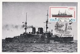 Carte Maximum Bateau Ship Italie 1978 Bateau Ship Corazzata Benedetto Brin - Maximum Cards