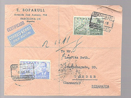 1946 E. Bofarull Avenida José Antonio 752  Barcelona > Denmark Tonder (366) - 1931-50 Briefe U. Dokumente