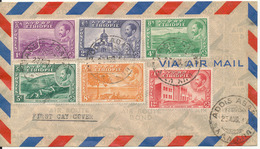Ethiopia FDC Air Mail Cover Addis Ababa 23-8-1947 - Ethiopia