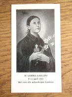 H. Gemma Galgani, Bid Voor Gehandicapte Kinderen, Katholieke Oudervereniging Zorgenkind, Den Haag - Devotion Images