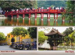 Vietnam Postcard Sent To Denmark 22-9-2012 (Historic Relics In Hanoi Vietnam) - Vietnam