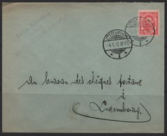 Luxembourg 1912 Cover, Ettlebruck-Luxembourg, 04/05/1912  (Ref: 1916) - 1906 William IV
