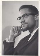 Malcolm X, Malcolm Little, Al Hajj Malik Shabazz, 1960s Famous Black American Leader C1980s/90s Vintage Postcard - Célébrités