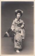 Japan Woman Traditional Fashion Dance(?) Theatre(?) C1900s/10s Vintage Postcard - Fashion