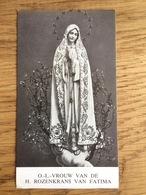 O.L. Vrouw Van De H. Rozenkrans Van Fatima, O.L. Vr. Middelares Leuven, Zieners, Engel Van Portugal - Devotieprenten