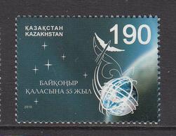 2010 Kazakhstan 55th Anniv Baikoner Cosmodrome Set Of 1 MNH - Kazakhstan